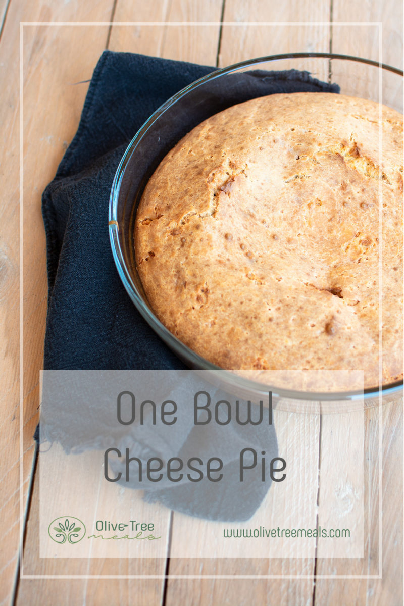 cheese pie in a round pan