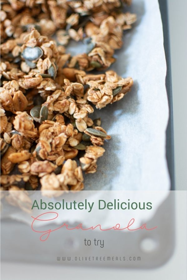 Sheet with granola