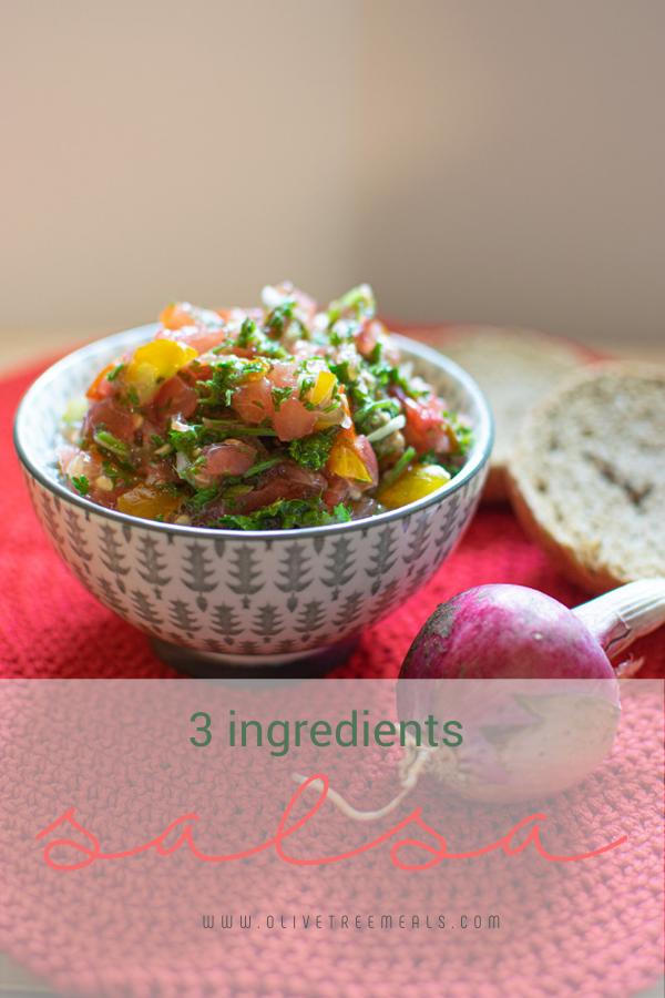bowl of salsa