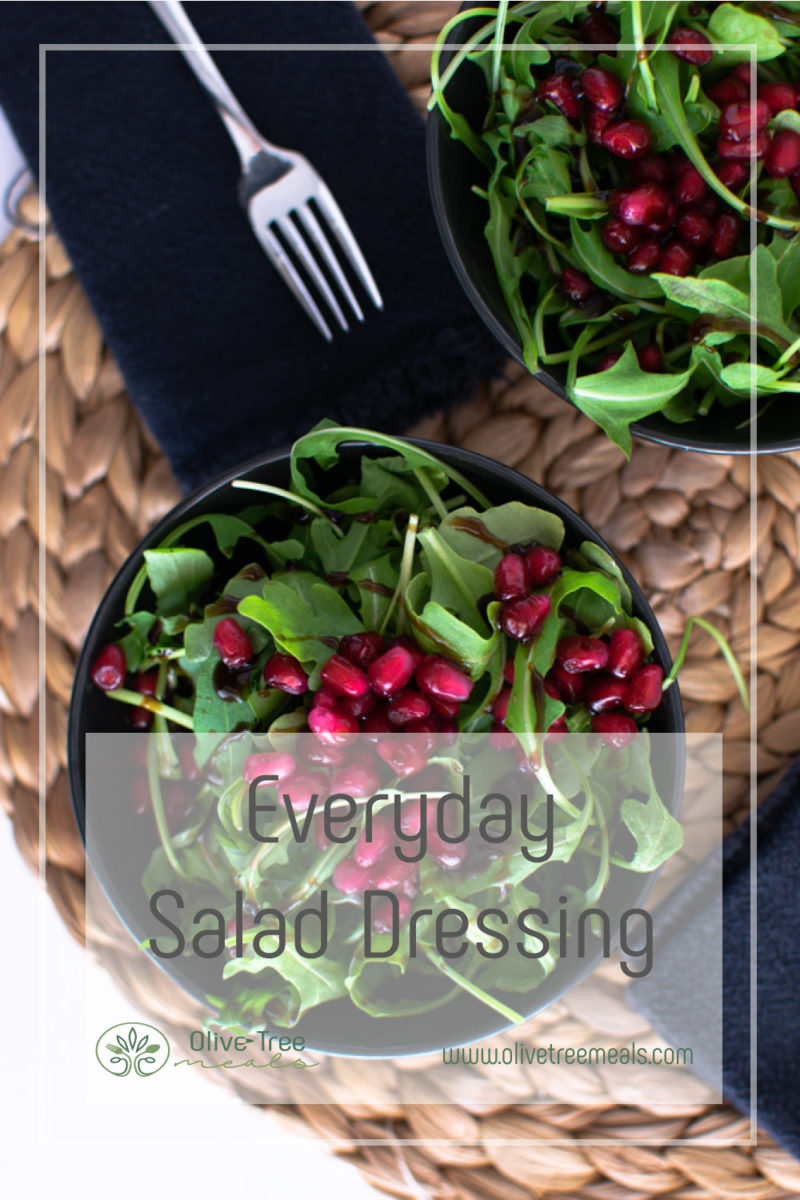 Rocket salad with promenade arils