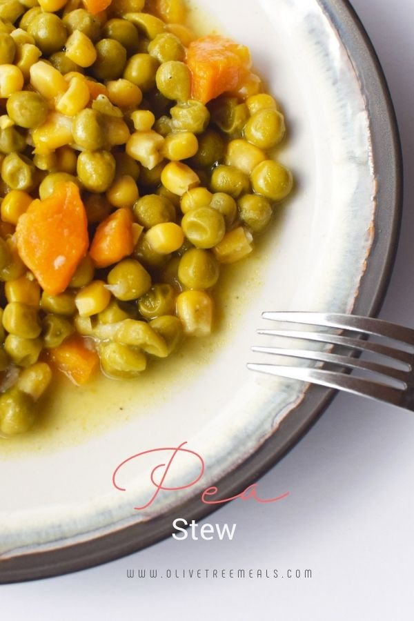 Plate with Pea Stew