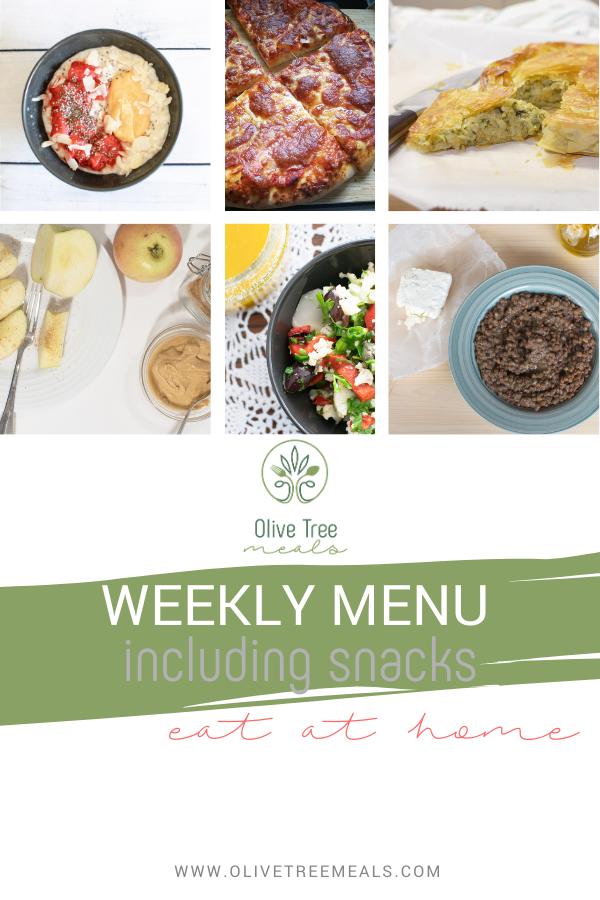 weekly menu poster